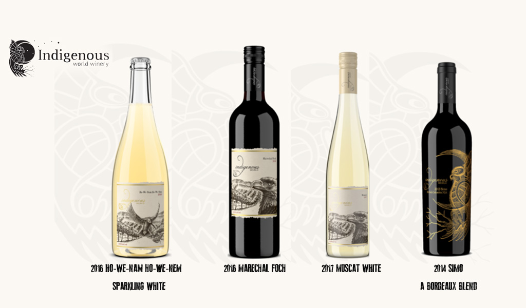 Indignous wines bottles