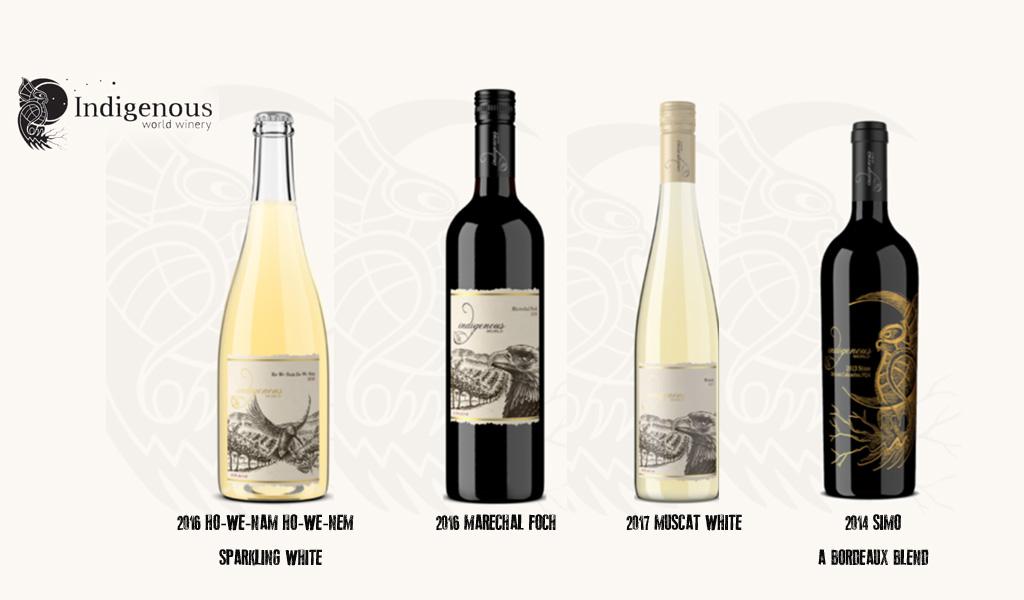 Indignous wines bottles